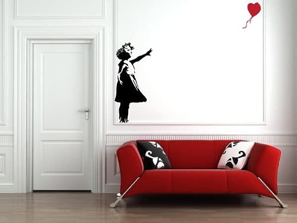Yadda Yadda Design Co Red Balloon Girl Wall Vinyl Decal