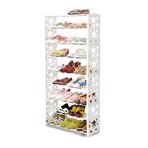 DALIZHAI2021 9 Niveles del gabinete de Zapatos Torre Organizador de Almacenamiento Soporte de Estante de Zapatos con Tela no Tejida de hasta 24 Pares de Zapatos (Style : A)