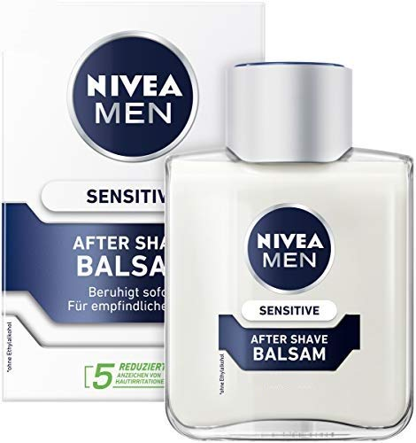 NIVEA MEN Sensitive After Shave Balsam (1 x 100 ml), beruhigendes After Shave, Hautpflege nach der Rasur mit Kamille und Vitamin E