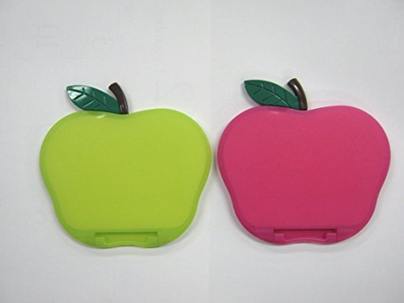 ひらめき絡まる流すリンゴ型コンパクトミラー カラー:ピンク、グリーン AP580 (グリーン)