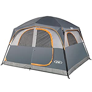 UNP Tents 6 Person Waterproof Windproof Easy Setup,Double Layer Family Camping Tent with 1 Mesh Door & 5 Large Mesh…