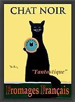 ポスター ケン ベイリー Chat Noir 額装品 ウッドベーシックフレーム(ブラック)