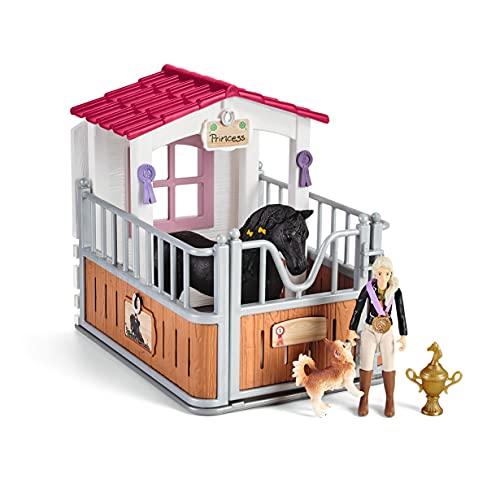 Schleich- Box pour Chevaux avec Horse Club Tori & Princess Playset, 42437, Multicolore, 24.5 x 8.2 x 19 cm
