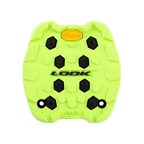 LOOK Cycle - Almohadilla de Sendero Activ Grip - Compatible con los Pedales Planos Trail Grip - Seguridad Antideslizante - Goma de Agarre innovadora - Tracción excepcional - Lima