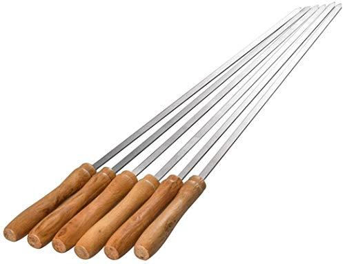 BTkviseQat Grillspieße,20 Stück Grill Kabob Spieße Edelstahl 42cm | Fleischspieße für BBQ & Grill | Kebab Spieße für Lagerfeuer oder Grillschale