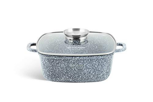 Edenberg EB-8003 Keramik-Granit-Topf 6.5L Durchmesser: 28 cm Hitzebeständig. Aus Aluminium, Antihaftbeschichtung. Perfekt für Gas-, Elektro-, Halogen-, Keramik- und Induktionsherde (6,5L)
