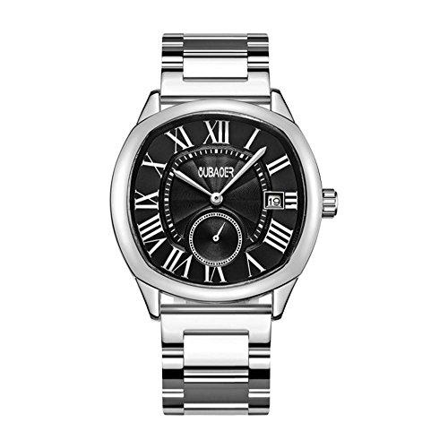 XY-QXZB Il puntatore dell'orologio di quarzo degli uomini mostra l'orologio impermeabile di vetro spessore minerale , 005