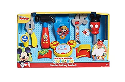 Disney Mickey Toodles Talk'n Toolbelt and Kids Play Tool Accessories for Contruction and Building Role Play and Dress Up, by Just Play from Just Play