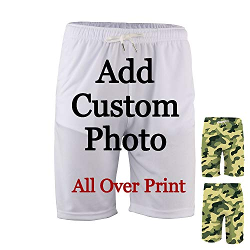 lttcbro Custom Men Shorts Personalized Swim Trunk DIY All Over Print Beach Shorts with Pockets (All Over Print, 3XL)