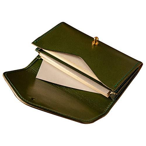 [アム デ マス] 名刺入れ 栃木レザー 本革 日本製 名刺 カード 30枚 シンプル 上品 おしゃれ カードケース ME-011 グリーン