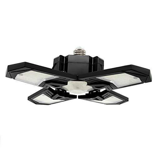 Seatechlogy Iluminación De Garaje LED, Lámpara Taller Ajustable De 4 Paneles, 120W, 85-265V 12000LM, Luz De Techo LED para Garaje, Almacén, Taller, Sótano, Gimnasio, Cocina