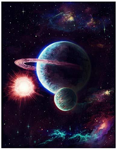 Yingxin34 Rompecabezas de 4000 Piezas para Adultos - Rompecabezas de 4000 Piezas - Rompecabezas de Planetas de fantasía Juego de Rompecabezas Pasatiempo Relajante 141x88cm
