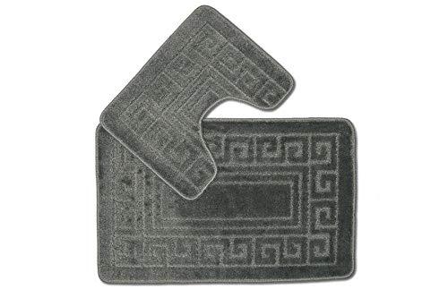 EDS, set di 2 tappetini da bagno in legno, tappetino da bagno, tappetino da bagno, tappetino da bagno, tappetino antiscivolo, extra forte assorbente.
