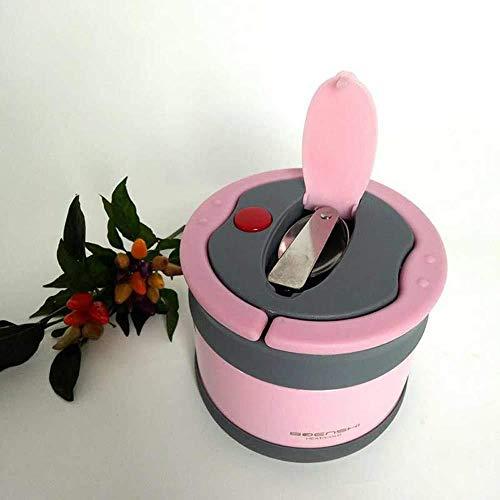 DYTJ-Lunchbox Bento Box Brotdose 304 Edelstahl Runde Brotdose Warmhaltedose Heiß- Und Kaltisolierung Kinder Studentenbüro Snack Aufbewahrungsbox Rosa