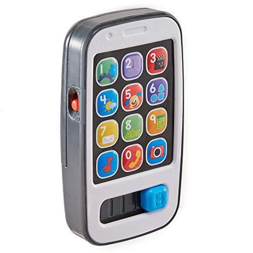 Fisher-Price Mon Téléphone Mobile Jouet Portable Bébé pour Apprendre les Chiffres, le Calcul et Formules de Politesse, 6 Mois et Plus, BHB89