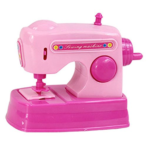 discountstore145 Pre-Kindergarten Toys Pretend Play Tool Set Simulation Mini Sewing Machine Fun Little Toys Desk Imaginative Play for Kids Pink