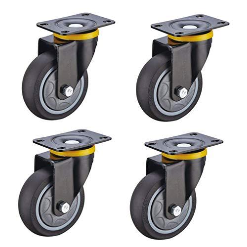 LQH 3/4/5 Zoll Lenkrolle Rad, Wagen Möbel Caster, Schwerlastrollen, die Kapazität von Vier Rollen ist 400 kg (882 Pfund), Geeignet for den Transport von Schwermaschinen