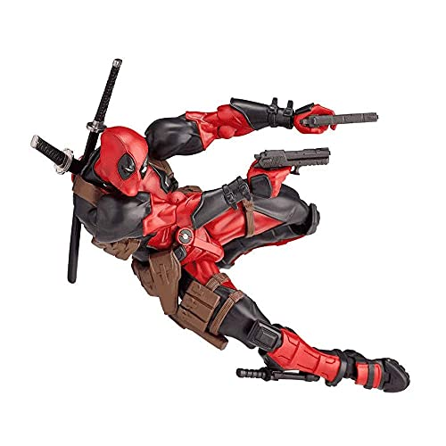 Action Figure Yamaguchi-Style Deadpool Series No.001 Deadpool, 6-inch Removable and Replaceable face Model