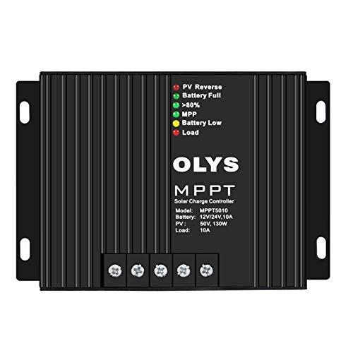 WIUANG MPPT Cargador de Controlador Solar 10A 12V / 24V Auto Max, Bluetooth Pantalla LCD Conectable,...