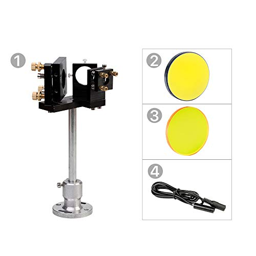 Cloudray E Series First Mirror Mount with Beam Combiner Base & D25mm Si Mirror 1 Pcs & D25mm Beam Combiner 1 Pcs & D10mm Red Pointer for CO2 Laser Cutter DIY