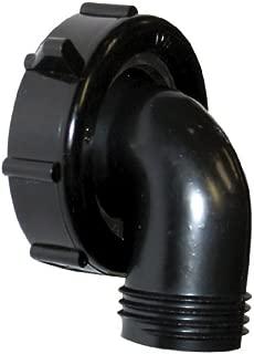 Valterra Black T01-0091VP Swivel Drain Connector-90°, 1-1/2