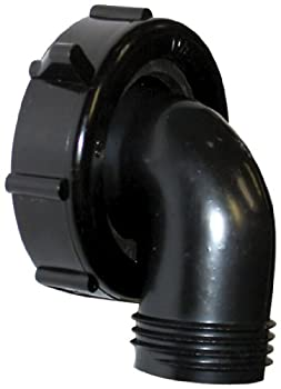 Valterra T01-0091VP Swivel Drain Connector - 90° 1-1/2  x 3/4  Black