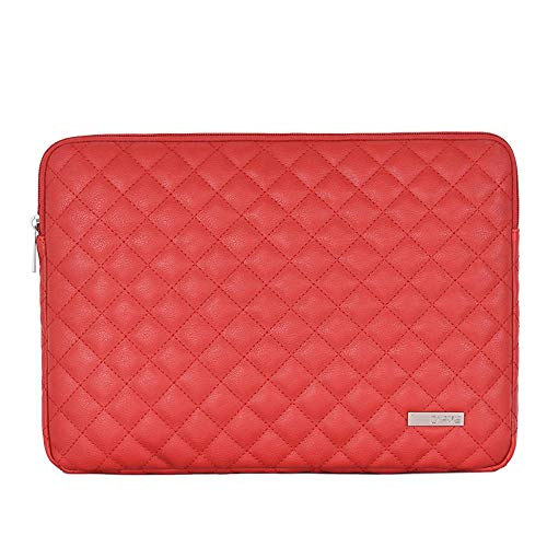 lingtai Laptop sleeve Pu Leather Laptop Sleeve Bag 11 12 13.3 14 15.6 Inch Laptop Bag Case For Macbook Notebook Sleeve Cover Fashion laptop bag (Color : 02, Size : 14-inch)