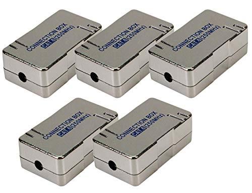 5X Faconet® LSA Verbinder Cat.6 zum Verbinden/Reparieren von Netzwerkkabel, Internetkabel oder ISDN-Kabel geschirmtes Gehäuse