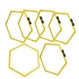 xiji Anillo de Agilidad Hexagonal, Anillos de Agilidad y Velocidad hexagonales Escalera de Entrenamiento de Agilidad de Velocidad para Baloncesto, fútbol, Lacrosse, Entrenamiento de Velocidad