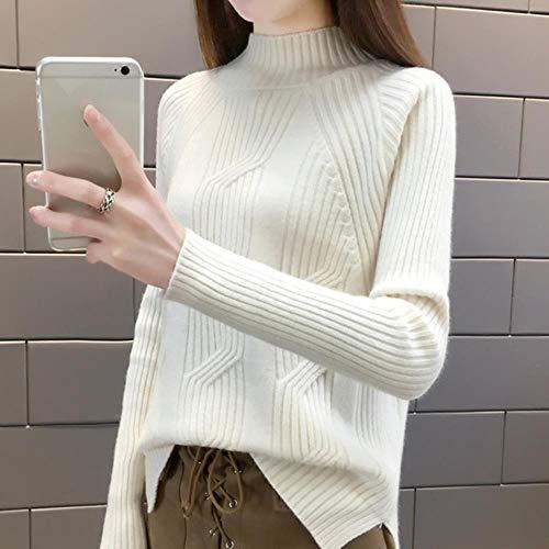 BXM vrouwen trui effen kleur coltrui los kasjmier dikker retro trui vrouw gebreide trui
