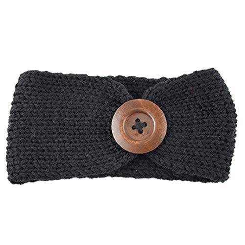 Tricotée Head Band Bouton Nouveauté Design Tête Wrap Charme Chaud Femmes Filles Bande Enfants Accessoires 1pc