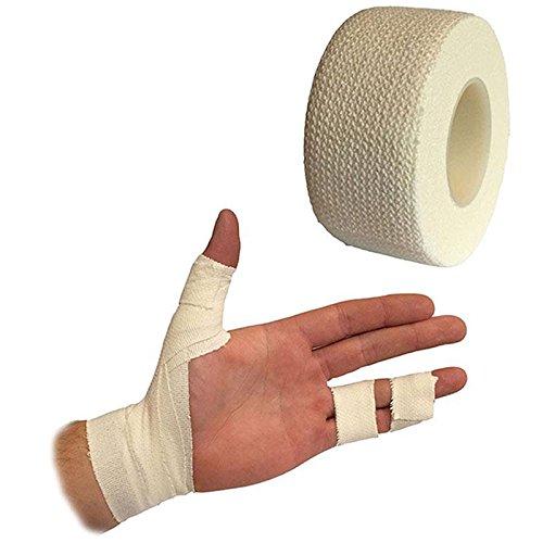 Giantree Rouleaux de Bandage Auto-adhésif, (Blanc) Bandage Auto-adhésif de Premiers Soins Poignet de Sport élastique Poignet Main Bande de Pouce