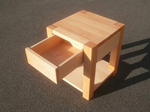 Nachttisch Holztisch Beistelltisch Erle massiv. Maße : 40x40x60cm hoch. Massanfertigung.