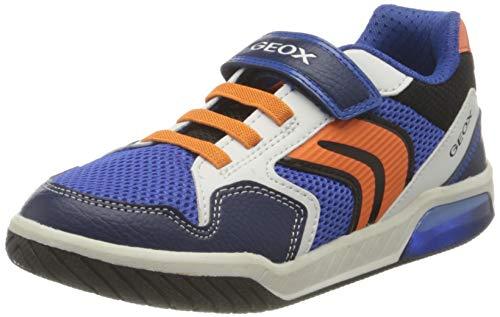 Geox J INEK Boy A, Zapatillas, Royal Orange, 34 EU