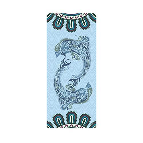 MOTOCO Yoga Handtuch Drucken Fitnesstuch - rutschfest, Leicht, Recyceltes, Saugfähiges Mikrofaser Yogahandtuch für Hot Yoga Bikram Ashtanga und Pilates(183X68CM.E)