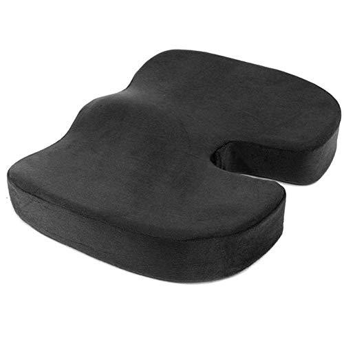 Wishdeal Cojín de viaje para coxis ortopédico de espuma de memoria U asiento de masaje cojín cojín de masaje para oficina de coche