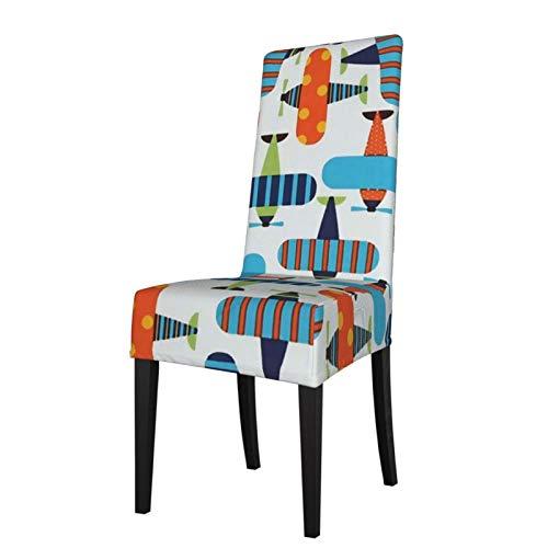 TOBEEY Fundas elásticas para sillas de comedor de aviones brillantes protector de silla super ajuste protectores de muebles para banquete