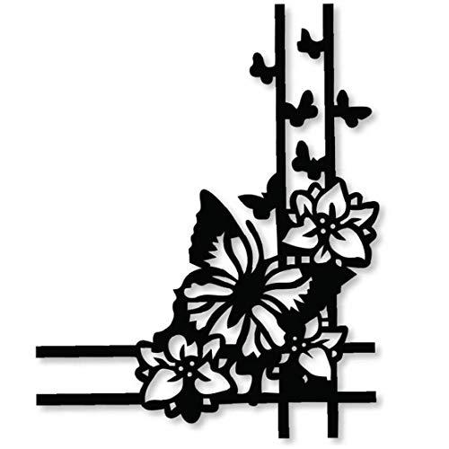 Casecover Métal Découpe Die Coin des Fleurs pour Die Carterie Crapbooking Album Papier Décoration Artisanat Embosser Die Couleur Aléatoire