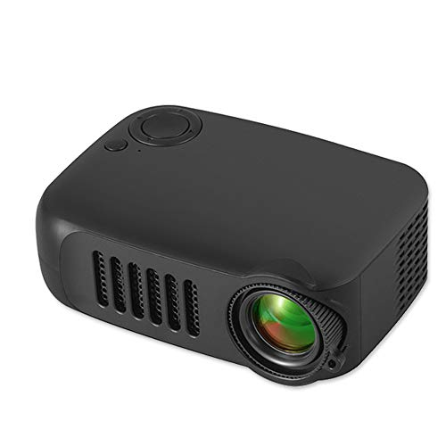 Kids Projector,iRULU Mini Portable Video Movie Projector,Home Theater Palm Size Projector with HDMI Headphone for Kids Children Education Black