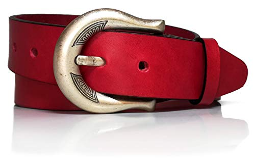 almela - Cinturón de mujer - Piel legítima - 4 cm de...