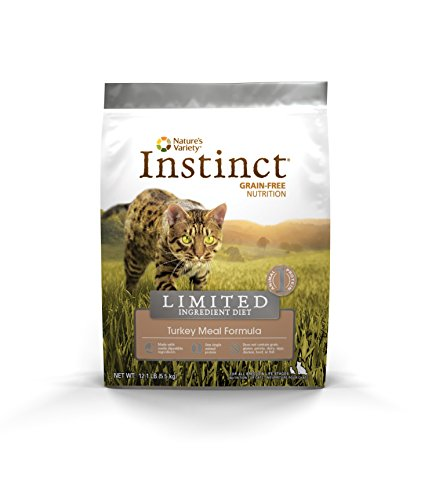 Instinct Grain-Free Turkey Meal Formula Limited Ingredient Diet Dry Cat Food by Nature's Variety, 12 lb bag