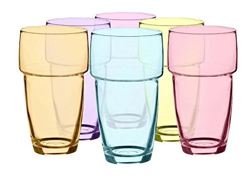 Sendez Lot de 6 verres résistants à la chaleur 300 ml