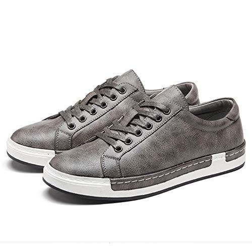 Lazy&Sexy oxfords-shoes Zapatos Casuales para Hombre de Piel con Cordones Zapatos Simples y Elegantes…