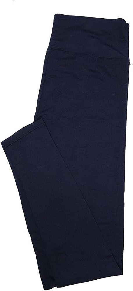 Lularoe One Size OS Solid Navy (193921) Womens Leggings fits Adult Sizes 2-10