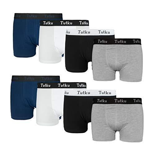 Tutku Boxershorts Heren (6-delig | 8-delig pak) ideale pasvorm door 95% katoen - vormvaste herenonderbroeken door elastaan (S-XXL)