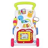 Multifunktionaler Trolley für Kinder, Lernwagen Baby erste Schritte, Spielzeug mit Musik und Ton, 45 x 42 x 34 cm, mehrfarbig