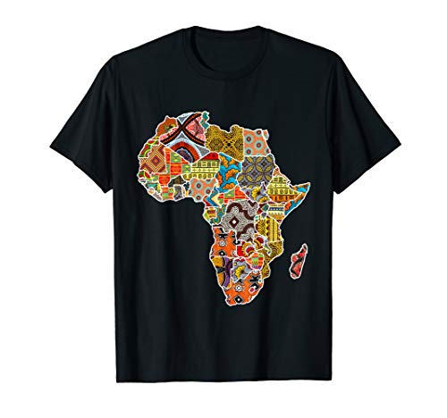 Africa Map with Traditional African Patterns T-Shirt