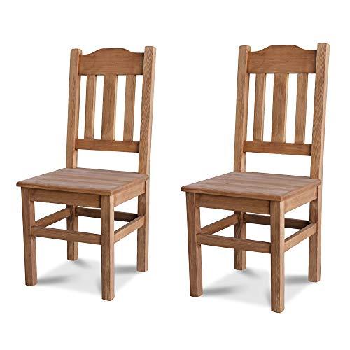 Elean 2 er Set Kuechenstuhl (HSL-02) Holzstuhl Esszimmerstuhl Stuhl mit Lehne Kiefer massiv vollholz zusammengebaut Verschiedene Farbvarianten Neu (Eiche lasiert)
