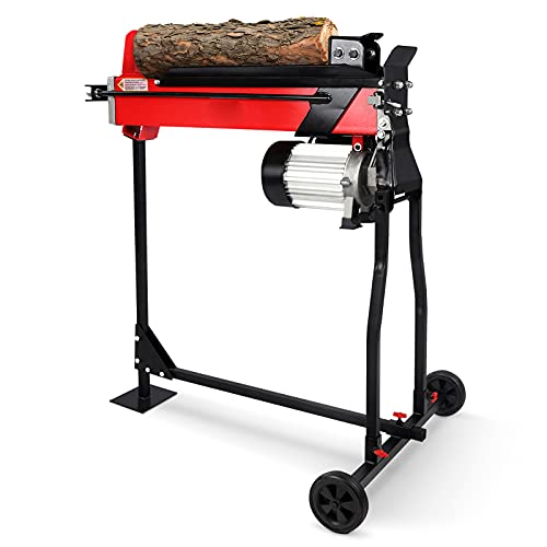 Ejoyous Electric Log Splitter, 7 Ton Hydraulic Wood Splitters Electric Log...