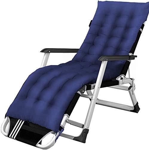 ADHW Sillón reclinable para exterior, jardín, Rocking Chair, silla de relajación, silla de brazo acolchado simple, fundas de cojín para tumbona